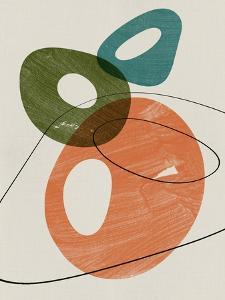 Orange and Olive Abstract Shapes by Eline Isaksen