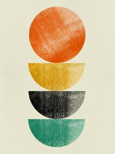 Tangerine Circle and Half Moons by Eline Isaksen