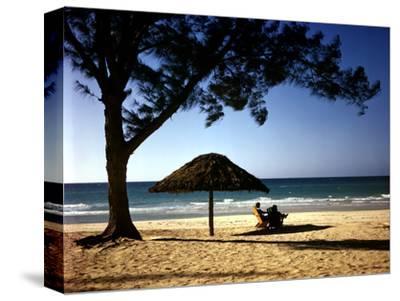 Beachgoers Relaxing at Veradero Beach in Cuba
