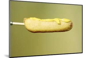 Close-Up of a Corn Dog on a Stick and Topped with Mustard, 1960 by Eliot Elisofon
