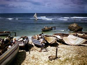 December 1946: a Fishing Fleet at Bathsheba, Barbados by Eliot Elisofon