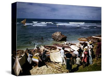December 1946: a Fishing Fleet in Bathsheba, Barbados