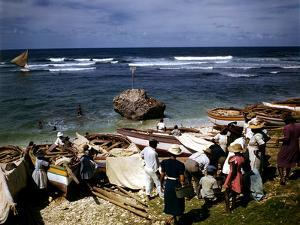 December 1946: a Fishing Fleet in Bathsheba, Barbados by Eliot Elisofon