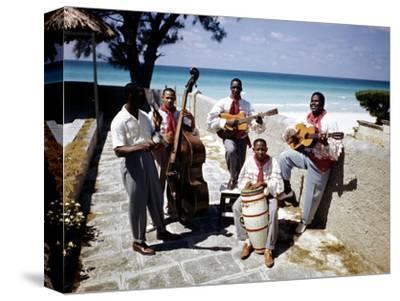 December 1946: Band at the Kastillito Club in Veradero Beach Hotel, Cuba