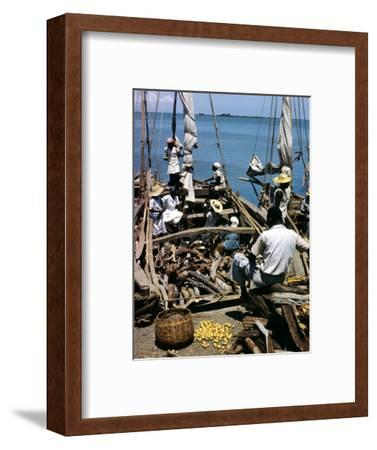 December 1946: Fishermen at in Port Au Prince Harbor in Haiti