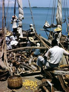 December 1946: Fishermen at in Port Au Prince Harbor in Haiti by Eliot Elisofon
