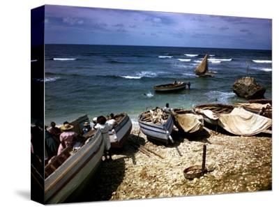 December 1946: Fishing Fleet at Bathsheba, Barbados