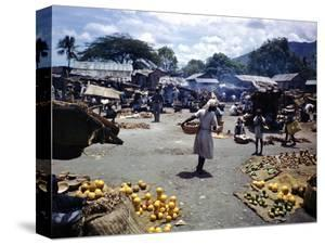 December 1946: Vendors at an Open Air Market at Petionville, Haiti by Eliot Elisofon