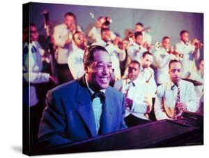 Jazz Musician Duke Ellington Performing with His Band by Eliot Elisofon
