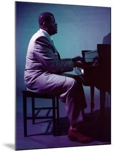 Jazz Pianist Oscar Peterson by Eliot Elisofon