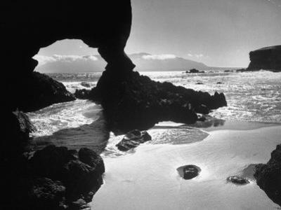 Natural Gateways Formed by the Sea in the Rocks on the Coastline by Eliot Elisofon