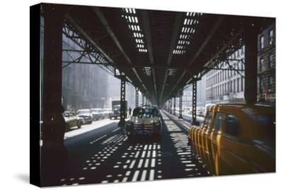 Traffic Along Third Avenue, New York, New York, 1955
