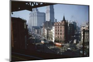 View of Chatham Square as Seen from the Third Avenue Line, New York, New York, 1955 by Eliot Elisofon