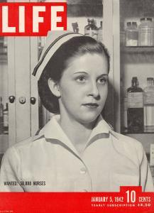 Wanted: 50,000 Nurses, Alberta Rose Krajce, Brooklyn Naval Hospital Nurse Shortage, January 5, 1942 by Eliot Elisofon