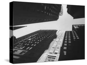 Wide Angle of Tower Buildings of Wall St by Eliot Elisofon