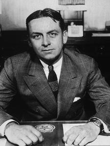 Eliot Ness, Treasury Prohibition Agent Who Brought Down Al Capone, Ca. 1935