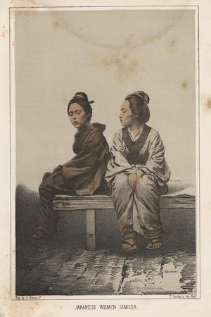 Japanese Women, Simoda, 1855
