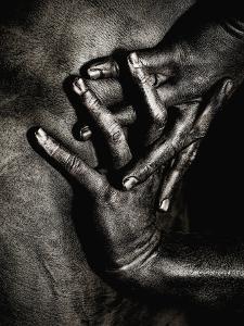 Painted Hands on Bare Skin by Elisa Lazo De Valdez