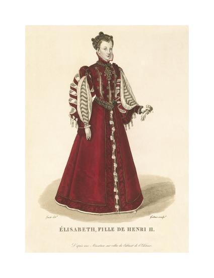 Elisabeth, Daughter of Henri II-Louis-Marie Lante-Premium Giclee Print