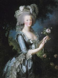 """La reine Marie-Antoinette dit """"à la Rose"""" (1755-1793) by Elisabeth Louise Vigée-LeBrun"""