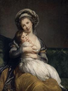 Madame Vigée-Le Brun et sa fille, Jeanne Marie-Louise (1780-1819) by Elisabeth Louise Vigée-LeBrun