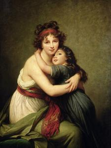 Madame Vigee-Lebrun and Her Daughter, Jeanne-Lucie-Louise (1780-1819) 1789 by Elisabeth Louise Vigee-LeBrun
