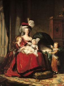 Marie-Antoinette (1755-93) and Her Four Children, 1787 by Elisabeth Louise Vigee-LeBrun