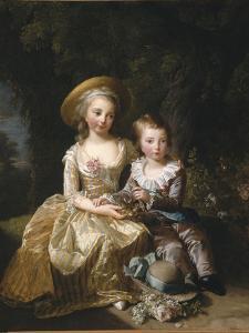 """Marie-Thérèse-Charlotte de France, """"Madame Royale"""" (future duchesse d'Angoulême) (1778-1851) et by Elisabeth Louise Vigée-LeBrun"""