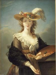 Portrait de Marie-Louise-Elisabeth Vigée-Le Brun (1755-1842), peintre by Elisabeth Louise Vigée-LeBrun