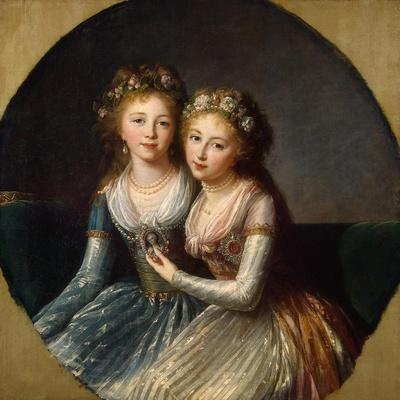Portrait of Grand Duchesses Alexandra Pavlovna and Elena Pavlovna of Russia, 1796
