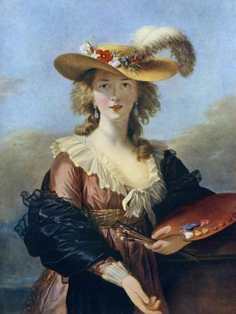 Self Portrait in a Straw Hat, C1782