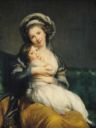 Self Portrait in a Turban with Her Child, 1786