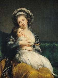 Self Portrait in a Turban with Her Child, 1786 by Elisabeth Louise Vigee-LeBrun