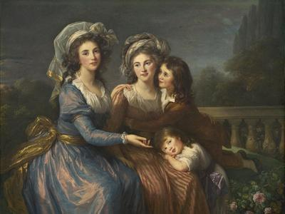 The Marquise De Pezay, and the Marquise De Rougé with Her Sons Alexis and Adrien, 1787