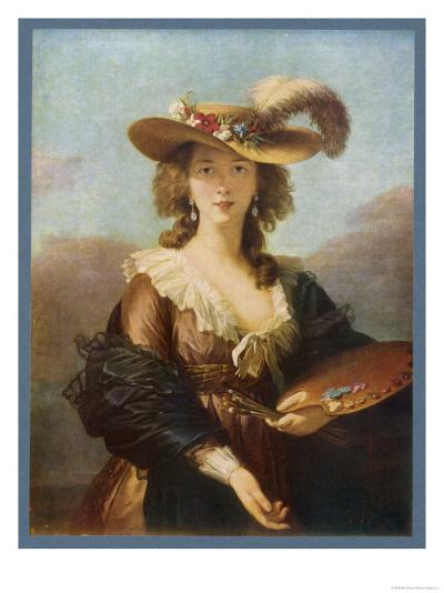 Elisabeth Vigee le Brun (Nee Vigee) French Artist--Giclee Print