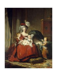 Queen Marie Antoinette with Her Children, 1787 by Elisabeth Vigee Le Brun