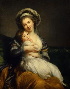 Self Portrait with Her Daughter Jeanne Julie Louise, 1786 by Elisabeth Vigee Le Brun