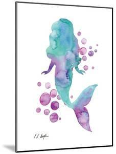 Blue and Purple Mermaid Bubbles by Elise Engh