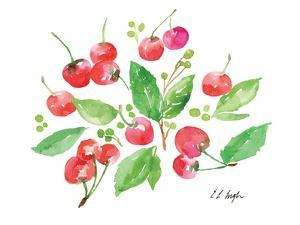 Cherries and Leaves by Elise Engh