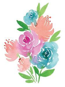 Fresh Watercolor Floral I by Elise Engh