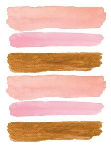 Gold and Pink Strokes by Elise Engh