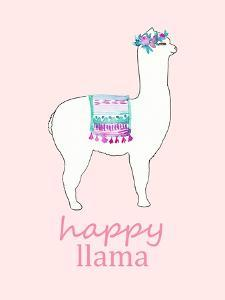Happy Llama - Pink by Elise Engh