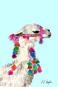 Little Llama Blue by Elise Engh