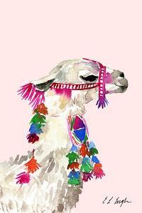 Little Llama Pink by Elise Engh