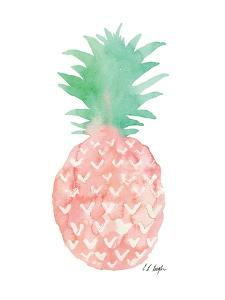 Mint and Pink Pineapple by Elise Engh