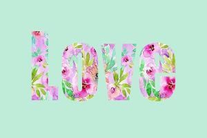 Mint Floral Love by Elise Engh