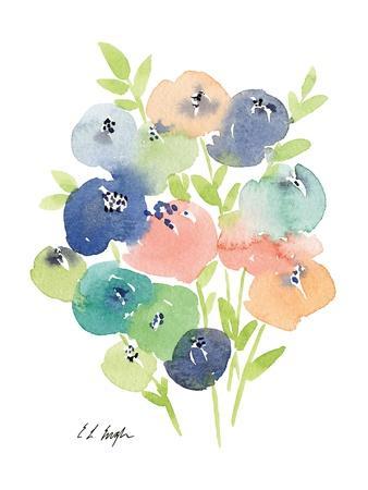 Pastel Flowers II