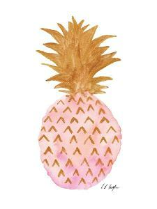 Pink and Gold Pineapple by Elise Engh