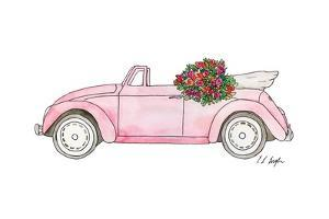 Pink Car with Roses by Elise Engh