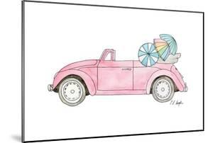 Pink Car with Umbrellas by Elise Engh